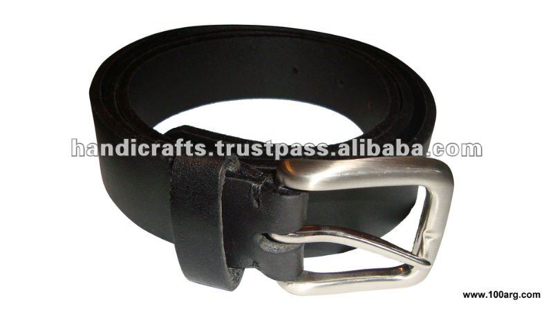 BELT IN GREASED LEATHER