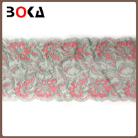 rose embroidery lace polyester lace fabric For wedding dresses doll clothes