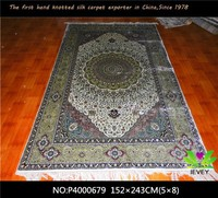 China handmade carpet iran wholesale price hand knotted silk rug for living room level loop carpet