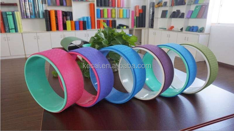 newest coloful yoga wheel and colorful yoga sports accessories
