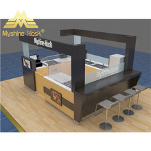 Modern retail fast food kiosk and shopping mall coffee cake kiosk design for sale