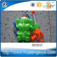 H85035 Wholesale cartoon elepant rabbit plastic toy big backpack water guns for kids