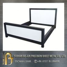 customized panel bed frame metal hotel bed