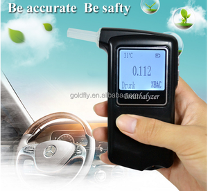 AT-868F Fuel Cell Portable Breathalyzer Digital Wine Alcohol Tester LED Backlight breathalyzer