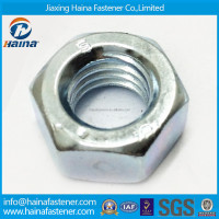 DIN934 8.8grade zinc plated carbon steel hex nut