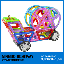 Building plastic magnet toy cars kids magnetic