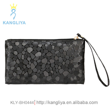 Ladies clutch bag stone pattern money and mobile purse special design little wallet