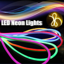 Flexible Neon LED Light Glow EL Wire String Strip Rope Tube Car Christmas Party LED Neon Lighting Flexible Rope 220V Light Spool