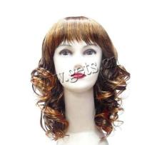 curly hair lady wigs heat resistant wigs
