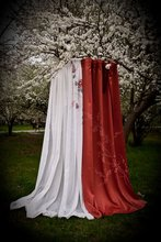 Hand painted fabrics - Chinoiserie curtains