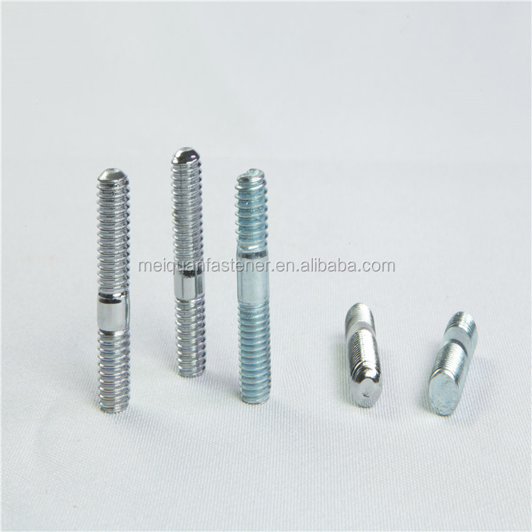 Fast Delivery High Strengh Carbon Steel 8.8 Grade Yellow Zinc M8 M10 Double Headed Bolt