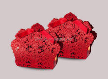 Wedding Favors And Gifts Baby Shower Christmas Red Laser Cut Romantic Decoration Flower Elegant Party Sweet Paper Candy Box