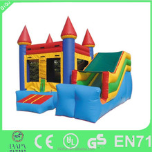 2016 Christmas new commercial inflatables for sale China, PVC 0.55mm small cheap indoor inflatable slide combo bouncers for kids