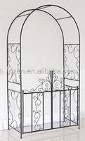 Outdoor metal garden rose arch with door /metal frame pergola