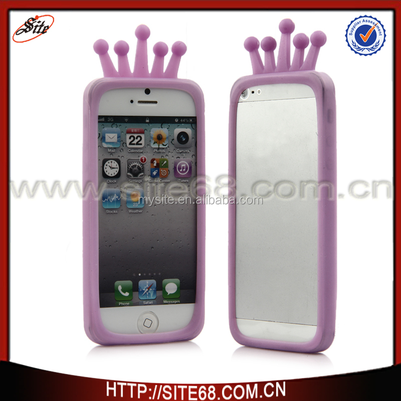 For iPhone 5 Protective Bumper Anti-Shock Clear Soft Universal Silicone bumper