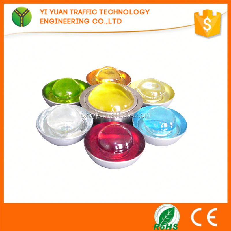 2016 improved colored reflector road safety glass spike for traffic safety