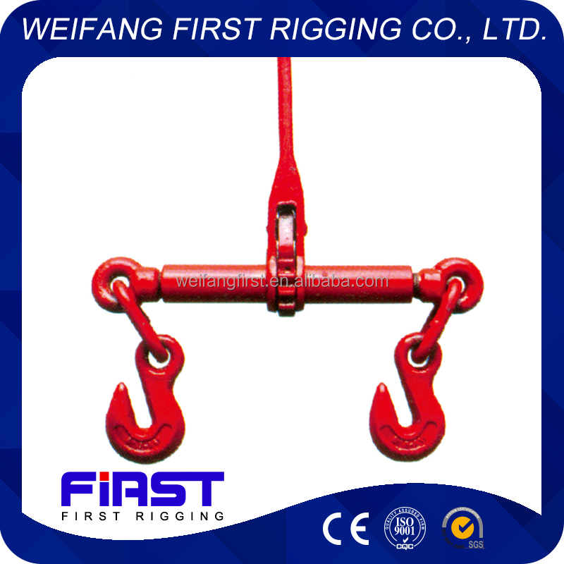 Drop forged chain ratcher type load binder