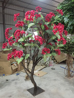 Shengjie New Design artificial plumeria tree,beautiful flowers tree and plant for weeding decoration
