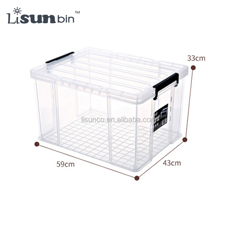 Clear Plastic Storage Bins Large with Lid and Handle