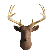 bull deer statues resin animal head wall decoration