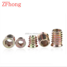 steel with zinc plated countersunk head furniture wood insert nuts