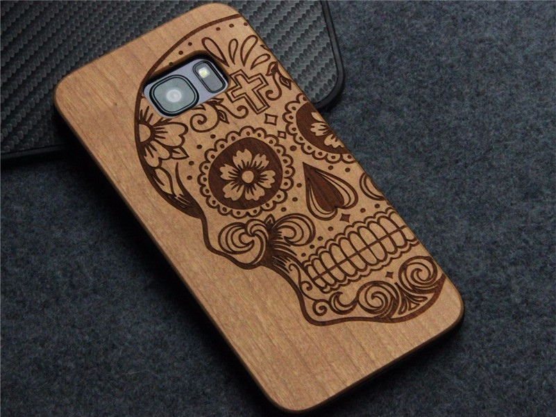 Mobile Phone Accessories Case Laser Engraving Custom Design Plastic Wooden Phone Case Cover For Samusng S7 Edge phone case