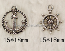 Custom made anchor pendant for bracelets and necklace wholesale alibaba