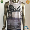 Custom Cotton Mens Tank Top with Print