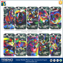 series seven Camouflage printed rubber coating cover case for iphone 6 6s