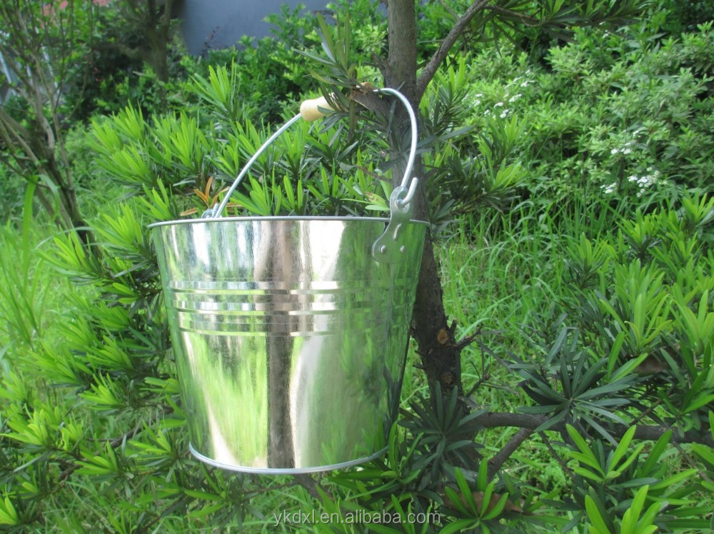 8L metal ice bucket with handle