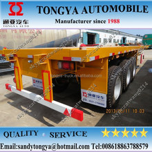 3 axle flatbed semi trailer/container transport semi trailer/tri-axle 40ft container trailer