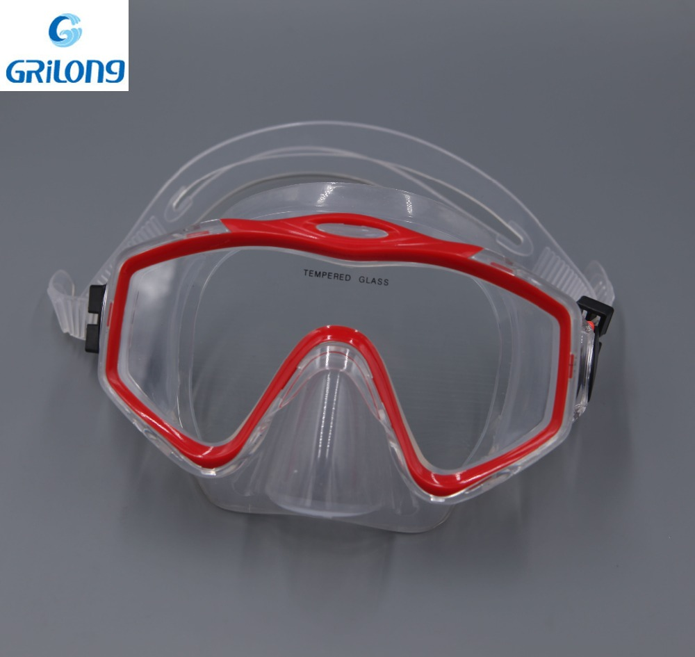 scuba diving equipment Tempered Glass liquid cilicone Diving full face Mask