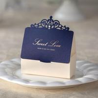 Invitation Matching Laser Cut Favor gift paper box
