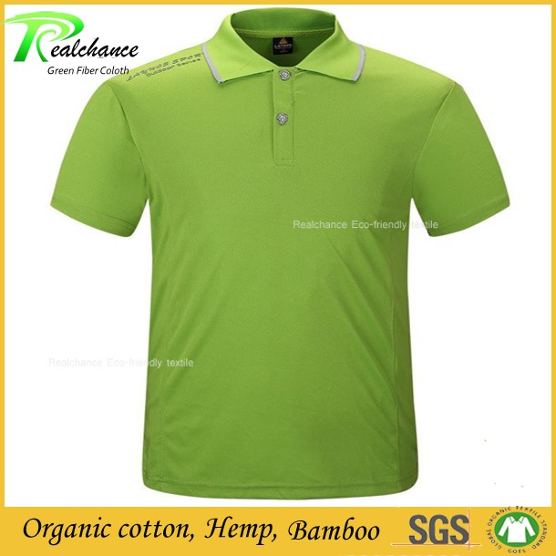 100% hemp thick breathable polo shirts for men / top quality hemp polo shirt