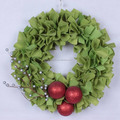 Battery operated indoor christmas wreaths with red bow