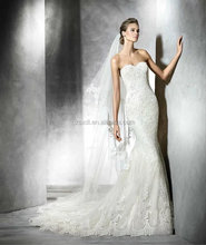 New Collection Sexy Mermaid Exquisite Lace Appliqued Alibaba Wedding Dress