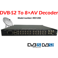 Broadcast IP/ASI to av converter/decoder direct to Catv rf modulator 16 channels from Cable tv digital headend