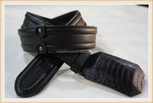 Formal ladies belt with leather back, trendy belt 2015