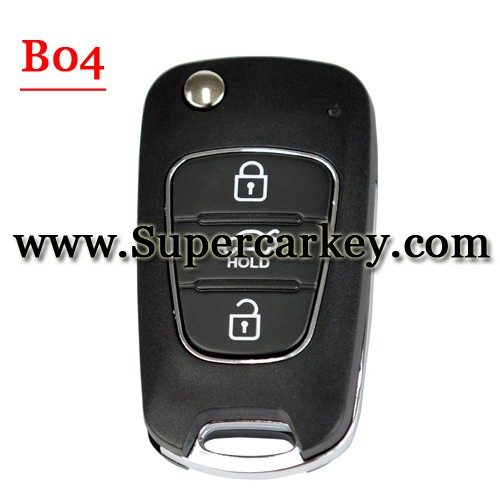Keydiy B04 Hyundai style 3 button Remote For KD900(KD200) Machine