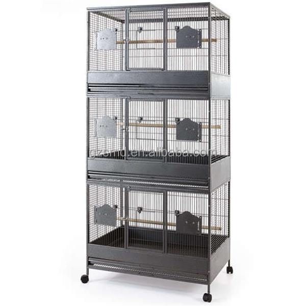 2M Strong Triple Stacker Metal Big Bird Cage