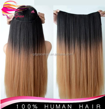 Fusion extension 24 inch ombre color flip in hair extensions