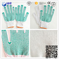 Brand MHR double sides pvc dotted working gloves/machinist working gloves