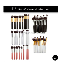 10 pieces synthetic makeup brush set , personalized private label makeup brush set