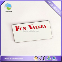 plastic pvc name badges, hard plastic pvc name tag with pin