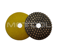 "Premium quality flex pad with metal dots 5"" concrete diamond grinding disc"
