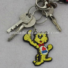 <span class=keywords><strong>3d</strong></span> suave caucho animales keychain para regalos promocionales