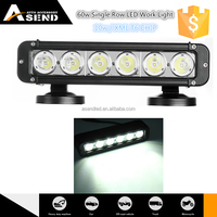 "10w/ chip XML T6 60w LED light bar with spot/ flood/ combo beam 10.9"" LED 4x4 bar lights waterproof"