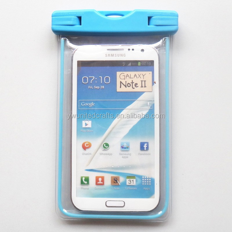 4.3-4.8inch Phone Waterproof Pouch Transparent Traveling Waterproof Cell Phone Bag