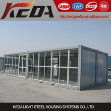 customized and flexible prefab shipping container house for shop/office/toliet/garage