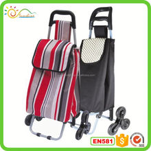 Hot sale luggage trolley 3 wheels push cart